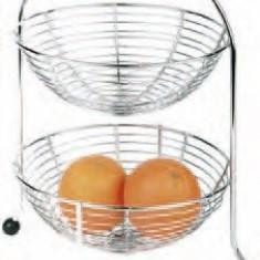 Etajera inox - 2 etaje pentru fructe - Raft/Etajera