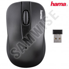 *** NOU *** Mouse Wireless HAMA MOU134918 AM-7701, 2.4GHz, Optici GARANTIE !!!, USB, Optica, 1000-2000