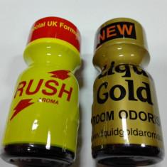 1+1, RUSH+LIQUID GOLD, POPPERS,, AROMA CAMERA SIGILAT, PRODUS ORIGINAL UK - Stimulente sexuale
