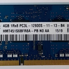 Ram laptop Hynix 4GB 12800 DDR3 1600Mhz HMT451S6AFR8A-PB PC3L Low 1.35V Sodimm, 4 GB, 1600 mhz