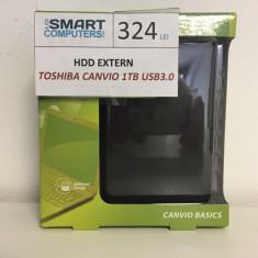 HDD Extern Toshiba Canvio 1TB USB 3.0, 1-1.9 TB, 2.5 inch