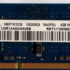 Ram laptop Ramaxel 4GB 12800 DDR3 1600Mhz RMT3170MN68F9F-1600 PC3L Low 1.35V, 4 GB, 1600 mhz