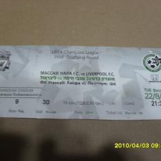 Bilet         Maccabi  Haifa  -  Liverpool