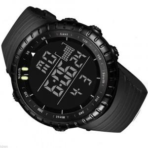 Ceas barbatesc  Quartz digital  cu data alarma cronometru waterproof 50M inot
