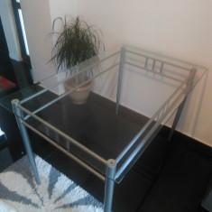 Masa living/bucatarie sticla securizata/metal