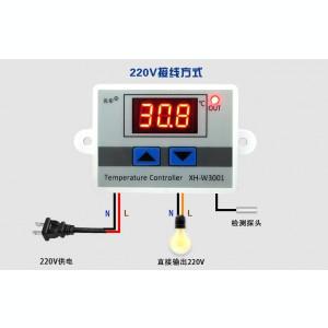 Controler temperatura+senzor+ termostat, alimentare 220V, nou