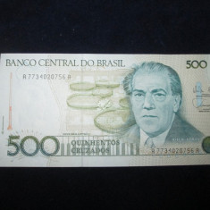 Brazilia . 500 cruzados . ND(1987) UNC necirculata - bancnota america