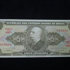 Brazilia . 5 cruzeiros . 1964 . UNC . necirculata - bancnota america