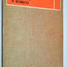 Algebra binara a lui Boole si aplicatiile ei in informatica - 1976 - Carte Informatica