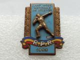 INSIGNA ROMANIA-ATLETISM-CAMPIONATELE INTERNATIONALE-1953