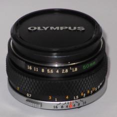 Olympus OM F.Zuiko Auto-S 50mm F1.8 + Capac fata - Transport gratuit prin posta! - Obiectiv mirrorless Olympus, Micro Four Thirds