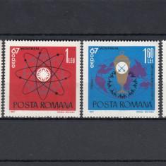 ROMANIA 1967 , LP 665 ,  EXPO '67 - MONTREAL   SERIE MNH