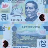 MEXIC 20 pesos 2011 polymer UNC!!! - bancnota asia