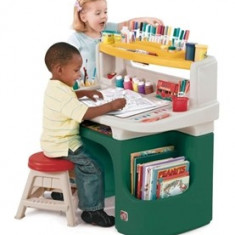 Masuta birou pentru copii Art Master Activity Desk Verde - Masuta/scaun copii Step 2