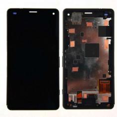 Display Cu Touchscreen Si Rama Sony Xperia Z3 Compact D5803 D5833 M55w Original SWAP Negru - Display LCD