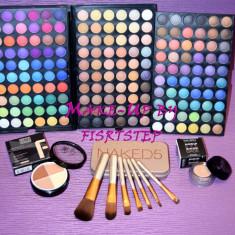 Trusa machiaj Urban Decay MAC 180 culori 7 pensule makeup Naked baza machiaj cadou dragobete
