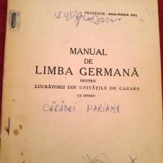 Manual de limba germana pentru lucratorii din unitatile de cazare, 1978 - Carte Epoca de aur