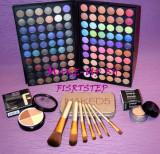 Trusa machiaj MAC 120 culori 7 pensule makeup Naked baza machiaj cadou dragobete