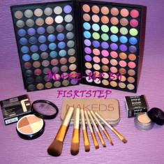 Trusa machiaj Urban Decay MAC 120 culori 7 pensule makeup Naked baza machiaj cadou dragobete