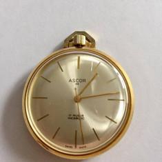 ASCOR - SWISS CEAS DE BUZUNAR MECANIC ELVETIAN - VINTAGE - Ceas de buzunar vechi