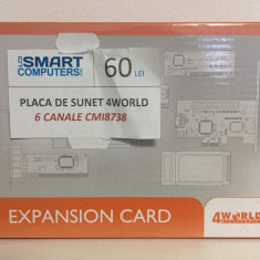 Placa de sunet 4WORLD 6 Canale - Placa de sunet PC 4World, PCI