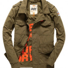 Geaca barbati Superdry Rookie Military - Marimi M, L, XL, Culoare: Khaki