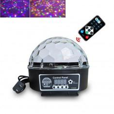 Lampa disco cu bluetooth, telecomanda si stick USB