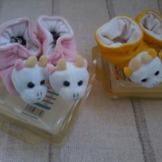 Doua perechi de botosei pentru fetite cu vacute Happy Puppy 1/6 luni - Botosi copii, Marime: 17, Culoare: Din imagine