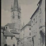 Strada Centumvirilor (Spinarea cainelui) - Sibiu - Hundsrucken - 1917, Circulata, Fotografie
