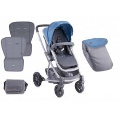 Carucior 2 in 1 landou S-500 Blue and Grey Lorelli - Carucior copii 2 in 1