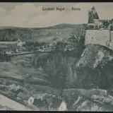 BRAN - Castelul regal - Parcu-  fotograf J. Schneider, Necirculata, Fotografie