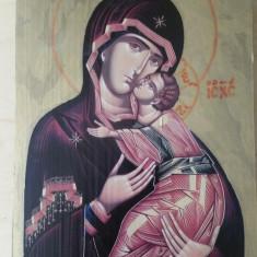 Icoana Sf. Maria si pruncul cu foita de aur - Icoana cu foita de aur