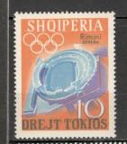Albania.1964 Expozitia filatelica de sport RIMINI-supr.  SA.495