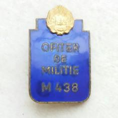 Insigna Ofiter de Militie RPR