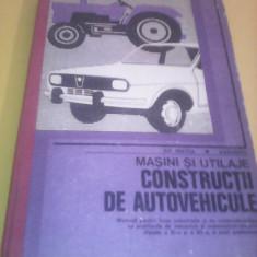 MASINI SI UTILAJE CONSTRUCTII DE AUTOVEHICOLE GH.FRATILA/E.DRAGHICI MANUAL 1981