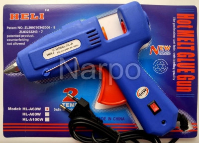 Pistol de lipit cu silicon 60W 11mm buton on off foto