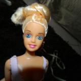 Papusa tip Barbie, papusa pentru fetite, 30 cm, cu coc, blonda, 4-6 ani, Plastic, Fata