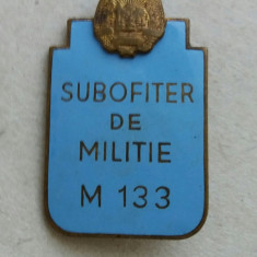 Insigna Subofiter de Militie RPR