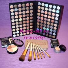 Trusa machiaj MAC 120 culori 7 pensule makeup Naked baza machiaj cadou dragobete - Trusa make up