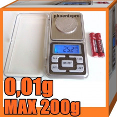 CANTAR ELECTRONIC 0, 01g-MAX.200g - Cantar de Bucatarie