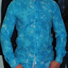 Camasa Casual Albastru turquoise pentru barbati - Camasa barbati Pull & Bear, Marime: L, XL, Culoare: Din imagine, Maneca lunga