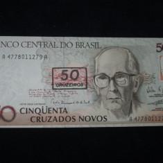 Brazilia . 50 cruzeiros . ND (1991) . UNC . necirculata - bancnota america