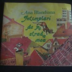ANA BLANDIANA - INTANPLARI DE PE STRADA MEA * cu ilustratii color - Carte poezie copii
