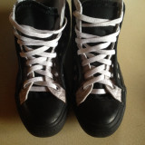Tenisi Converse Chuck Taylor All Star, alb negru, dungi, originali - Tenisi dama Converse, Marime: 37