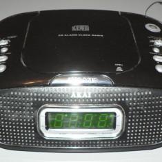 Ceas de birou cu radio si CD - Akai - stare foarte buna - cu CD bonus
