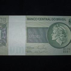 Brazilia . 1 cruzeiro . ND(1980) . UNC . necirculata - bancnota america