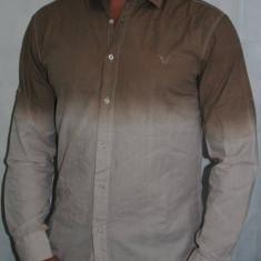 Camasa degrade in 2 culori pentru barbati 100% bumbac, M, XL, XXL, Maneca lunga, Pull & Bear