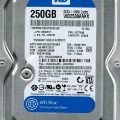 Hard disk Western Digital Blue WD2500AAKX 250GB SATA3, 16M, 100%OK, garantie!, 200-499 GB, Rotatii: 7200, 16 MB