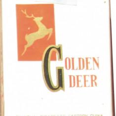 Tigari de colectie - GOLDEN DEER - Pachet sigilat anul - 1981 - Pachet tigari