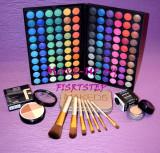 Trusa machiaj MAC 120 culori 7 pensule makeup Naked baza machiaj cadou dragobete, Urban Decay